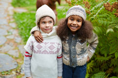 Affectionate kids Stock Photography