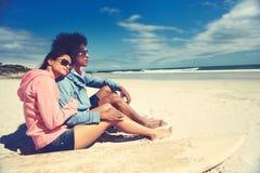 Affectionate latino couple Stock Photo