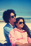 Affectionate latino couple Stock Photography