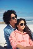 Affectionate latino couple Stock Image