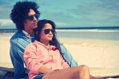 Affectionate latino couple Stock Photos