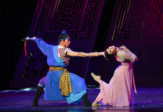"Affectionate lover-Dance drama ""The Dream of Maritime Silk Road"" Stock Photo"