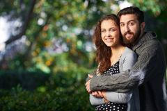 Affectionate lovers Stock Images
