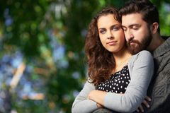 Affectionate lovers Stock Photo