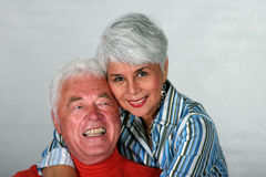 Affectionate mature couple Stock Photos