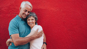 Affectionate mature couple embracing each other Stock Images