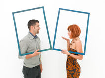 Affectionate moment between man and woman Stock Photo