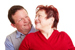 Affectionate senior couple Stock Images