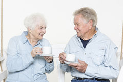 Affectionate senior couple Stock Image