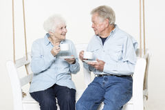 Affectionate senior couple Royalty Free Stock Photo