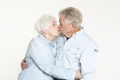Affectionate senior couple Royalty Free Stock Image