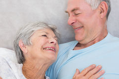 Affectionate senior couple looking at each other Stock Images