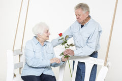 Affectionate senior couple Stock Photography