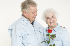 Affectionate senior couple Stock Photography