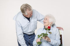 Affectionate senior couple Stock Image
