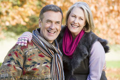 Affectionate senior couple on walk Stock Photography