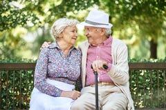 Affectionate seniors Royalty Free Stock Photo