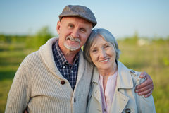 Affectionate seniors Royalty Free Stock Images