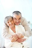 Affectionate seniors Stock Photo