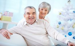 Affectionate seniors Stock Images