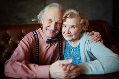Affectionate seniors Royalty Free Stock Photography