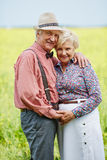 Affectionate seniors Stock Photography