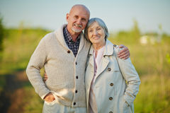 Affectionate seniors Royalty Free Stock Photo