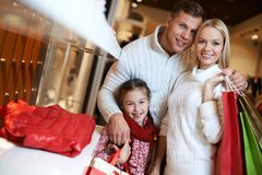 Affectionate shoppers Stock Images