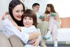Affectionate siblings Royalty Free Stock Image