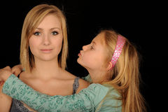 Affectionate sisters Royalty Free Stock Images