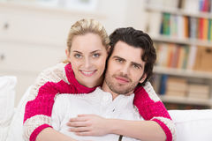 Affectionate stylish young couple royalty free stock image
