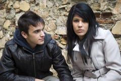 Affectionate teenage couple Stock Photography
