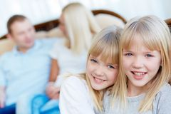 Affectionate twins Royalty Free Stock Photos