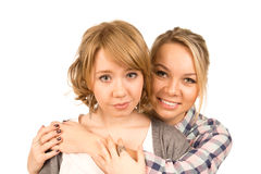 Affectionate woman friends Royalty Free Stock Images