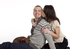Affectionate Young Adult Couple Royalty Free Stock Photo