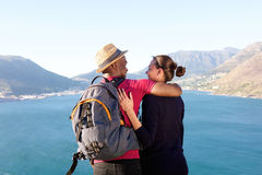 Affectionate young couple on holiday Stock Photo