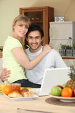 Affectionate young couple Stock Photos