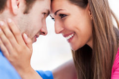 Affectionate young couple Royalty Free Stock Photos