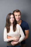 Affectionate young couple royalty free stock images