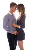Affectionate young couple touching foreheads Stock Photography