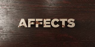 Affects - grungy wooden headline on Maple  - 3D rendered royalty free stock image Stock Image