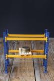Affeeuromünzen auf einem Palle Lizenzfreie Stockfotos