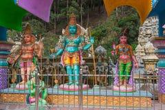 Affegott des hindischen Tempels Stockbild