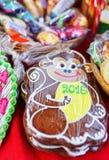 Affelebkuchen als Symbol des bevorstehenden Jahres Stockfotografie