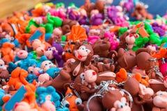 Affelehm-Puppenschlüsselring Stockfotografie