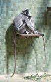 Affen und Fallhammer Lizenzfreies Stockbild