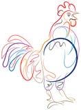 Afferma il gallo Fotografia Stock Libera da Diritti