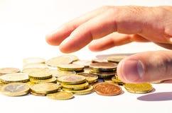Afferrare i soldi Fotografia Stock Libera da Diritti