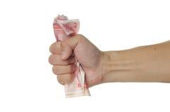 Afferri i soldi Fotografie Stock