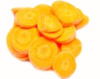 Affetta la carota Immagini Stock